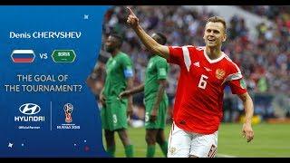 Denis cheryshev goal 1 - russia v saudi arabia - match 1