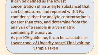 Method Validation - Instrument Detection Limit