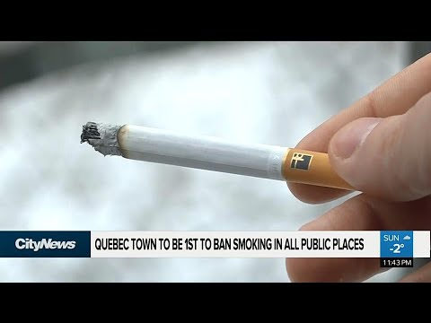 Quebec town to ban smoking in all public places