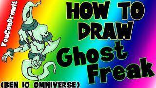 How To Draw Ghostfreak from Ben 10 Omniverse ✎ YouCanDrawIt ツ 1080p HD