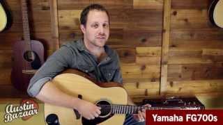 yamaha fg700s acoustic guitar demo austin bazaar