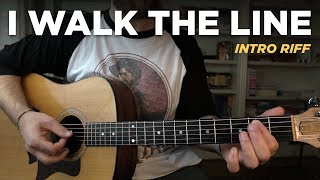 I Walk The Line • Into riff guitar lesson (Johnny Cash)