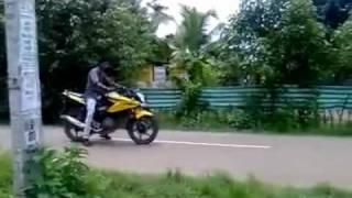 Funny Bike Stunt Accident In  Kerala India .avi
