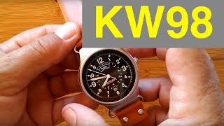 Kingwear KW98 Android 5.1 Production Version Smartwatch: Unboxing and Review