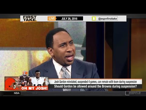 Stephen A. Smith Rips Josh Gordon For Being Around Browns During Suspension