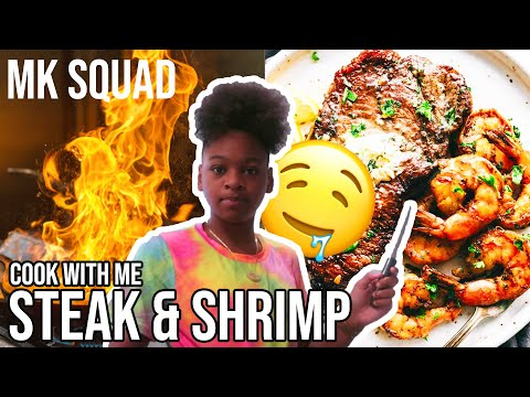 COOK WITH ME | STEAK & SHRIMP 🤤