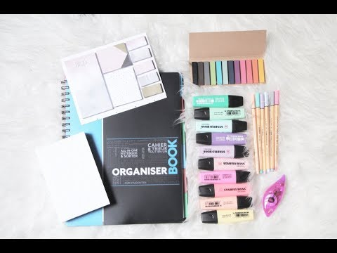 ♡ BACK TO SCHOOL   Fournitures + Organisation pour les cours