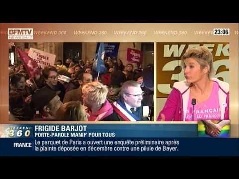 Interview de Frigide Barjot et opposition de l'UMP au Mariage Pour Tous à l'AN (25/01/13, BFM TV)