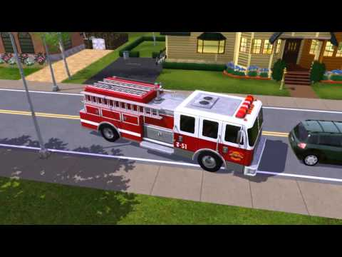 Sims 3 Awesome Fire Truck