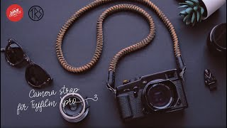 Fujifilm Xpro 3 with Handmade Paracord camera strap from The Ronen Strap