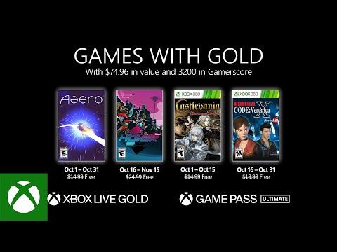 Бесплатные игры по программе Games With Gold в октябре