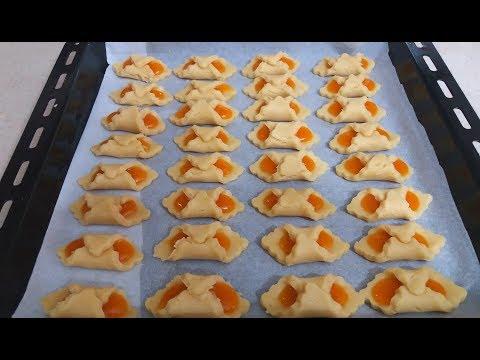 Şeftali Marmelatlı Kurabiye yapımı-pratik lezzetler