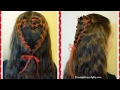 4 Strand Rosette Heart Hairstyle For Valentine's