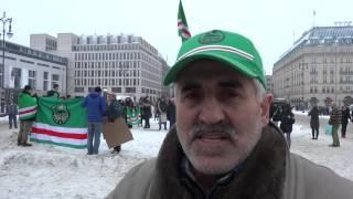 Демонстрация чеченцев в Берлине(23 января 2016 года в Берлине у Бранденбургских ворот состоялся митинг чеченцев, проживающих в Берлине. Основн..., 2016-01-23T22:26:05.000Z)