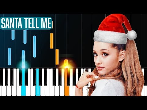 "Ariana Grande - ""Santa Tell Me"" Piano Tutorial - Chords - How To Play - Cover"
