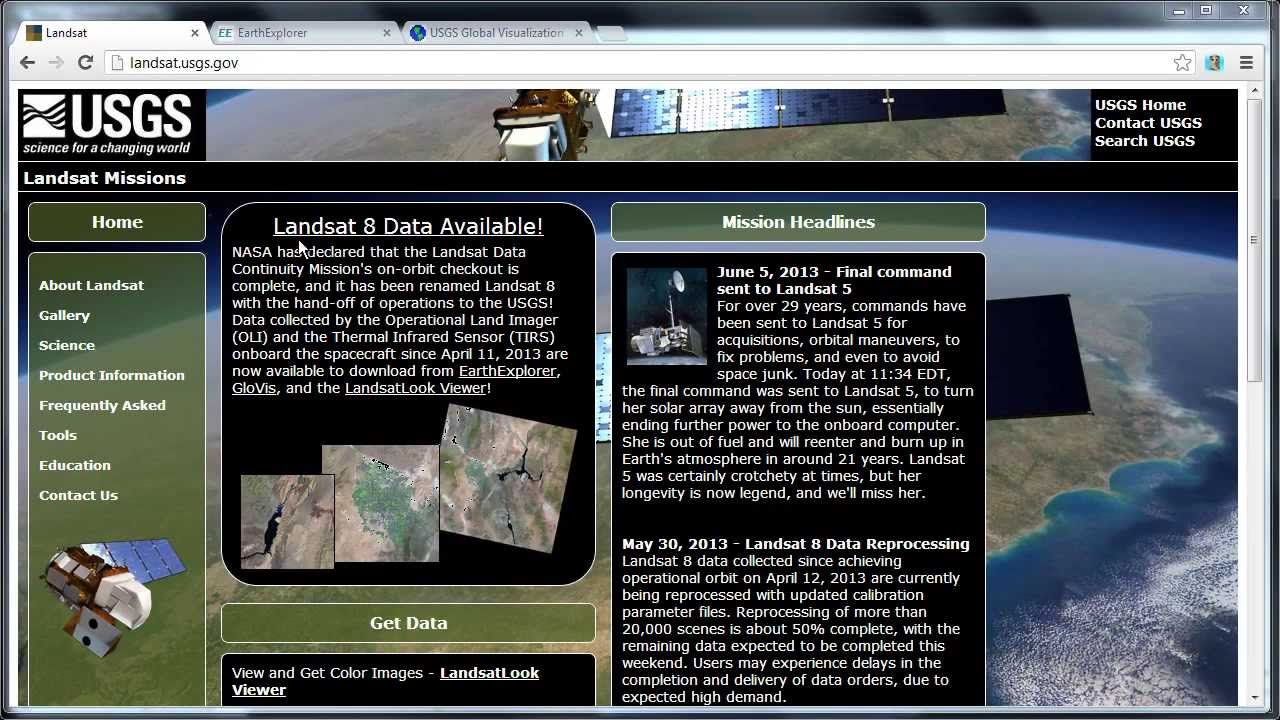 Download landsat imagery from glovis youtube.