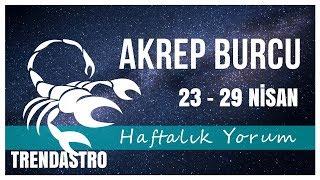 AKREP BURCU 23 - 29 NİSAN HAFTALIK YORUM   TRENDASTRO