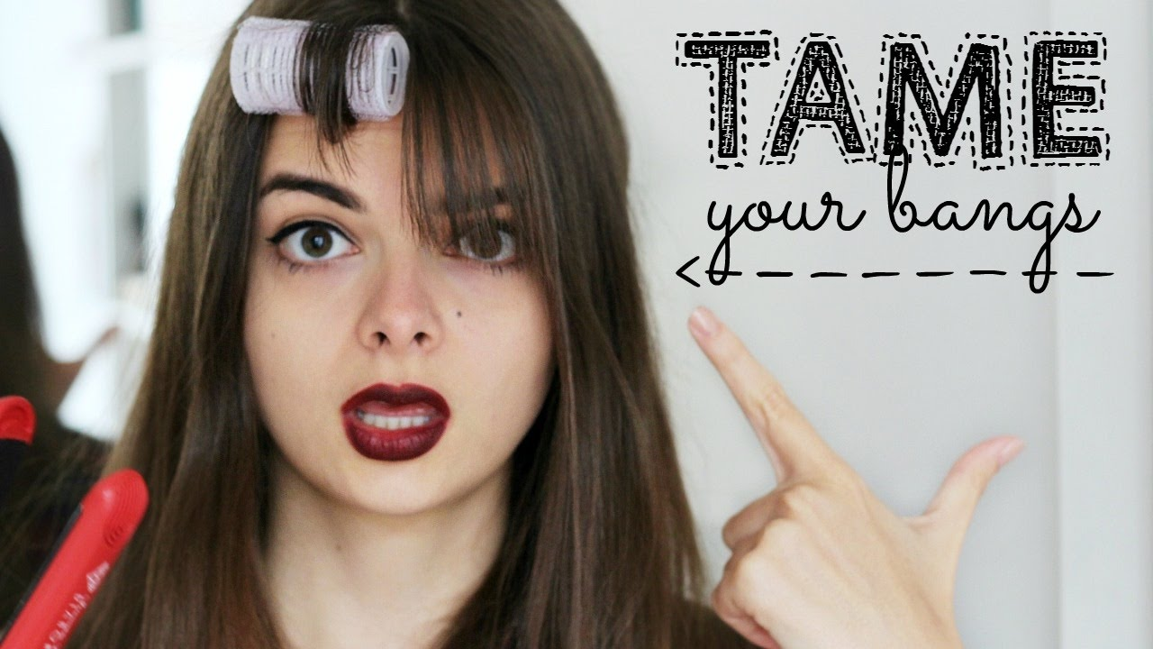 how to tame bangs styling tips youtube
