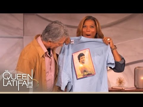 Patrick Duffy Gives Queen Latifah a Special Present