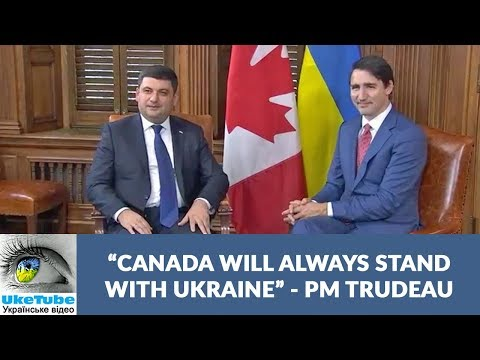 PM Justin Trudeau meets PM Volodymyr Groysman, October 2017