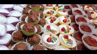 حلويات العيد 2020 حلويات جزائريةخمسة انواع بعجينة وحدة و اكثر من100حبة بدون طابع بدون كريمات .