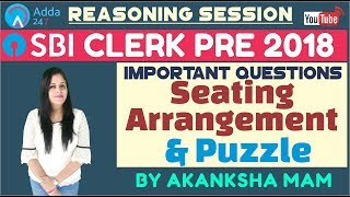 SBI CLERK PRE | Important Questions Of Seating ...