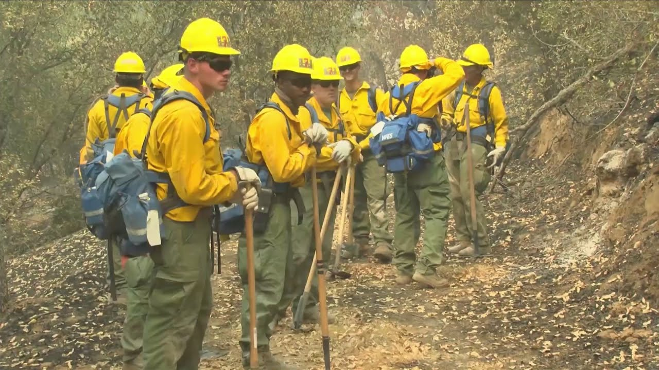 250 marines and sailors head to fire line to battle Creek Fire