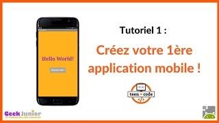 Créez votre première application mobile (Android)