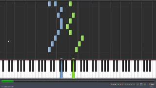 sur le pont d'avignon piano tutorial Synthesia [100%-50%]