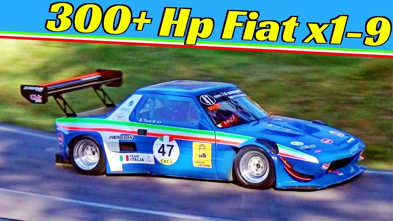 300+ HP Fiat X1/9 powered by Alfa-Romeo D2 Engine - Manuel Dondi and his 670Kg Hillclimb Monster!