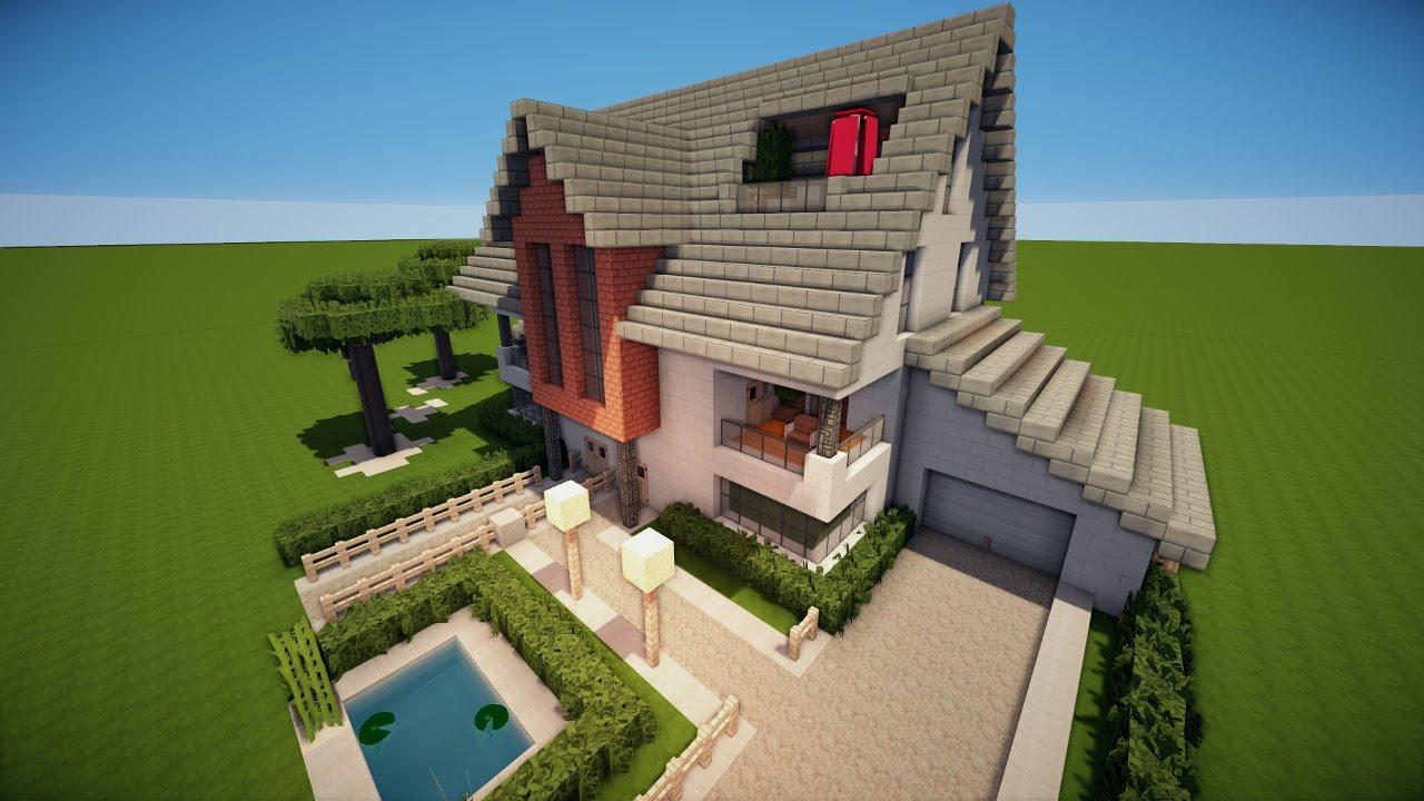Minecraft Modernes Zweifamilienhaus Bauen Tutorial