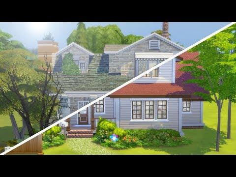HAUNTED HAZARD // The Sims 4: Fixer Upper - Home Renovation thumbnail