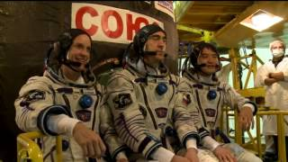 Expedition 48-49 Crew Prepares For Launch in Kazakhstan