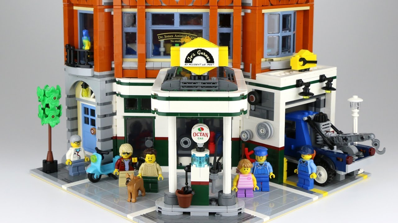 Lego Creator Expert Corner Garage 10264 All Details Youtube