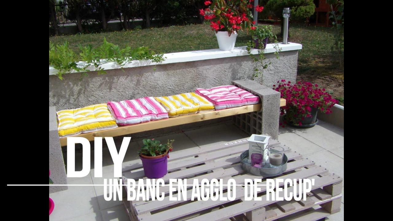 DIY Un Banc En Agglo YouTube