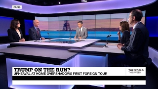 Trump on the run? Upheaval at home overshadows first foreign tour