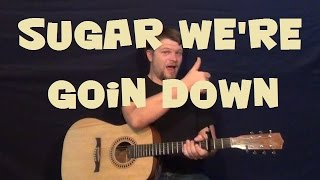 Sugar We're Goin Down (Fall Out Boy) Easy Strum Guitar Lesson How to Play Tutorial
