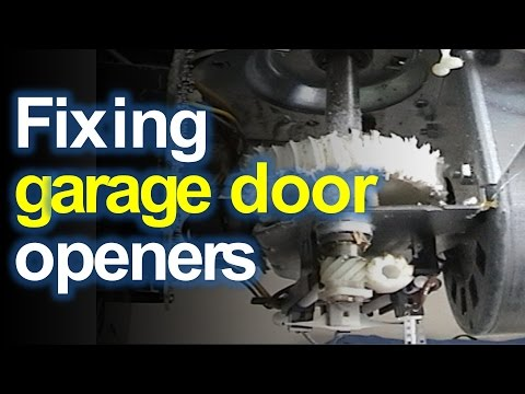 Craftsman (LiftMaster) Garage Door Opener Won't Open or Close? Fix the Stripped Gears  YouTube