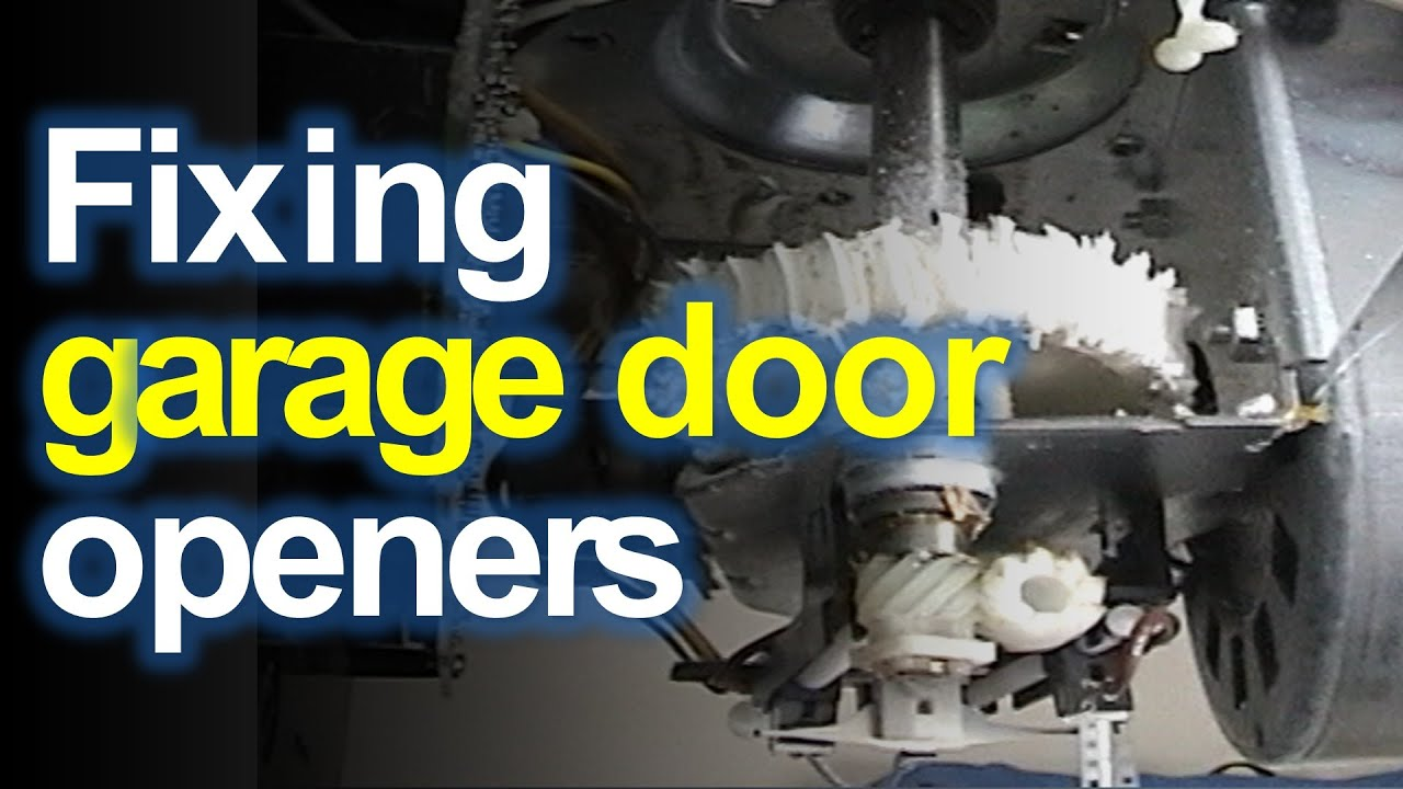craftsman liftmaster garage door opener won t open or close replace the stripped gears [ 1280 x 720 Pixel ]