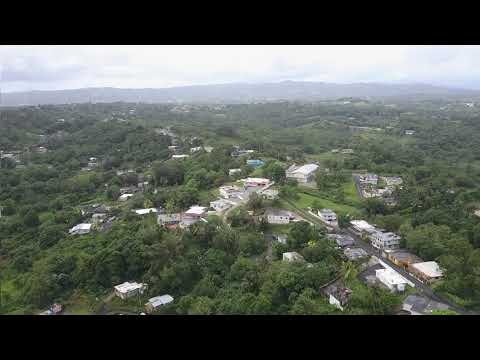 Hurricane Irma Aftermath from drone Puerto Rico near Humacao