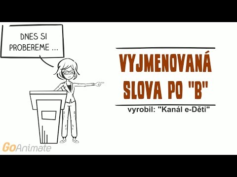 Vyjmenovaná slova po B Animované výukové HD video