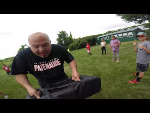 Kicking Shield Drill w/Patenaude Martial Arts, ASWCO-N7 Multi Sport Camp & Cultural Camp Akwesasne