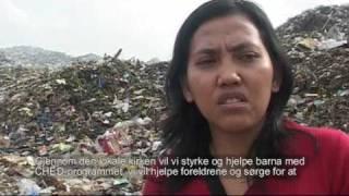 Familiene på søppelfyllingen utenfor Medan i Indonesia