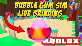 🍬 ROBLOX Bubble Gum Simulator- Grinding the Valentines Egg LIVE + Update 16 coming today! 🍬