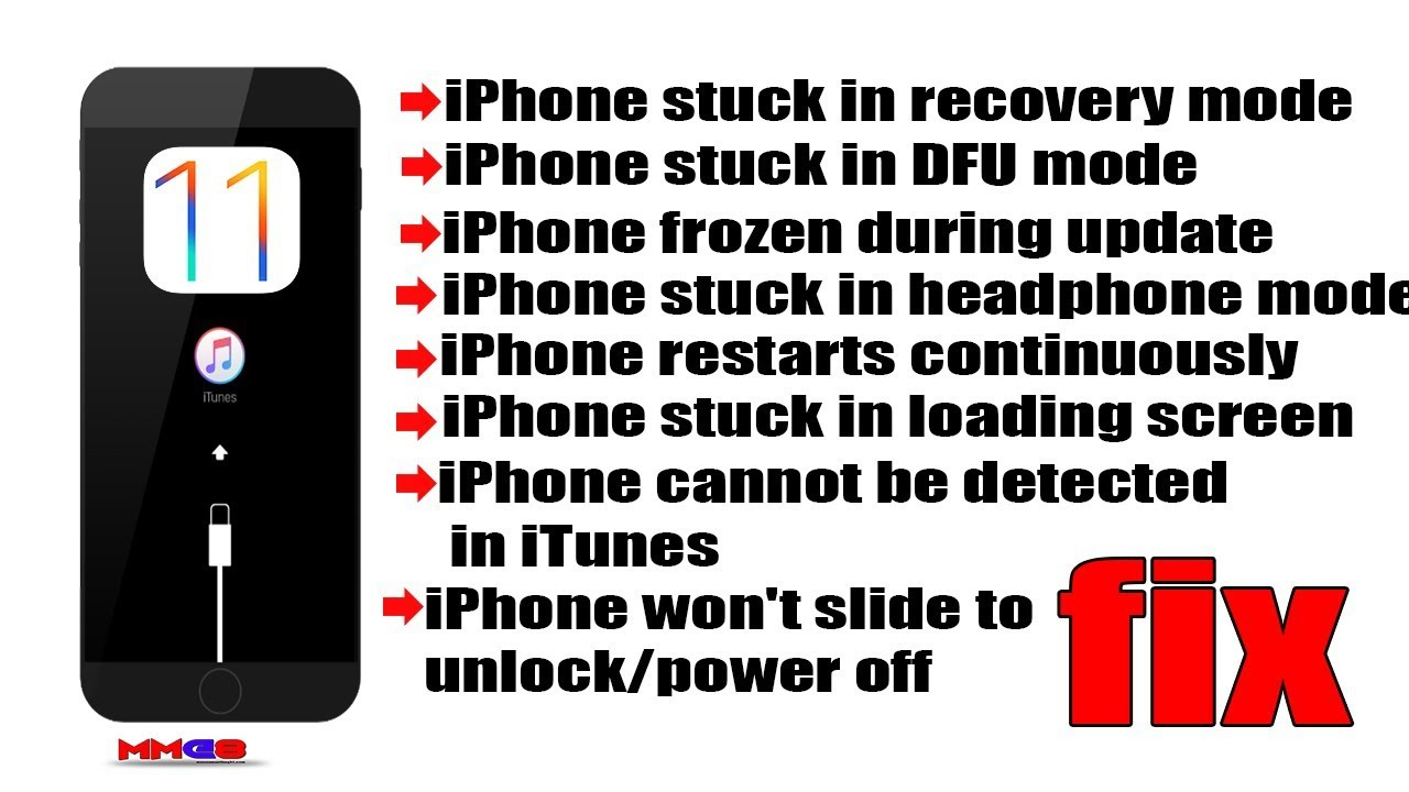 iphone stuck on update how to fix iphone stuck in recovery mode on ios 11 iphone 2874