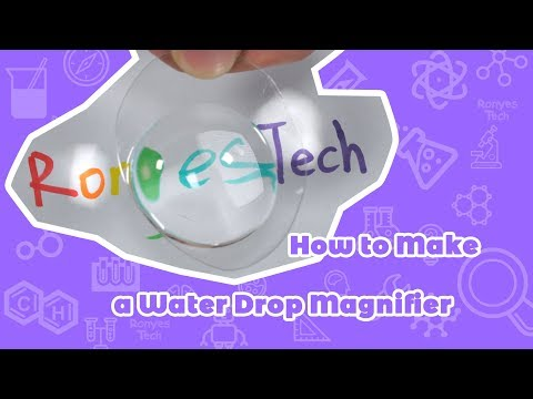 Water Drop Magnifier - Easy Science Experiment For Kids