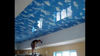 Натяжной потолок в бассейн.