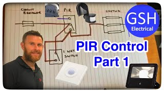 On Site with Matt PIR Lighting Control. Wiring Diagram to Help with Distant Learning Part 1