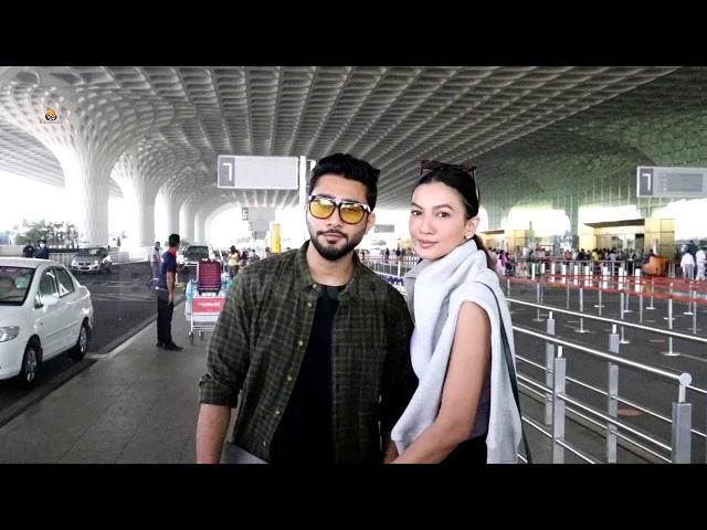 Gauahar Khan & Zaid Darbar Spotted At Airport