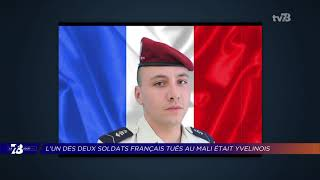 Yvelines | 7/8 Le Journal (extrait) – Arnaud Volpe, militaire originaire des Yvelines, tué au Mali